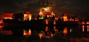 Malbork nocą