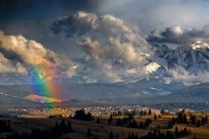 Tęcza po burzy w Tatrach